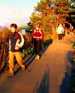 Nordic Walking in Seaview Lookoff park